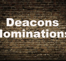 Deacon Nominating