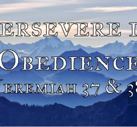 Persevere in Obedience Art